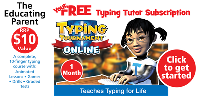 Click here for one month free trial Typing Tournament - learn to type the fun way